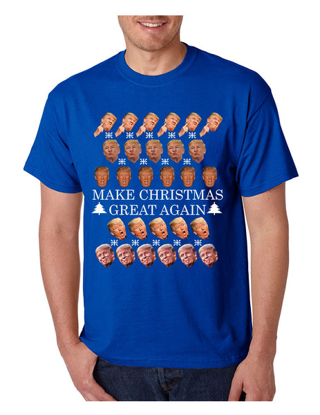 Men's T Shirt Make Christmas Great Again Trump Shirt Xmas Gift - ALLNTRENDSHOP - 4