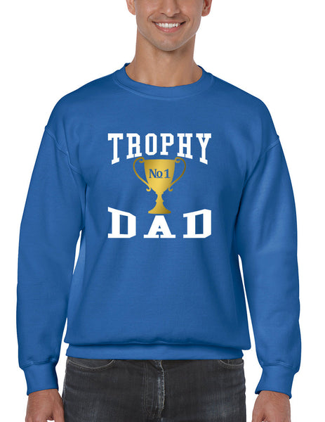 Men's Sweatshirt Trophy Dad Love Father Shirt Daddy Cool Gift - ALLNTRENDSHOP - 2