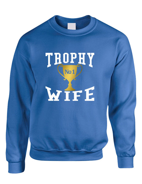 Adult Sweatshirt Trophy Wife Cool Xmas Love Holiday Gift - ALLNTRENDSHOP - 6