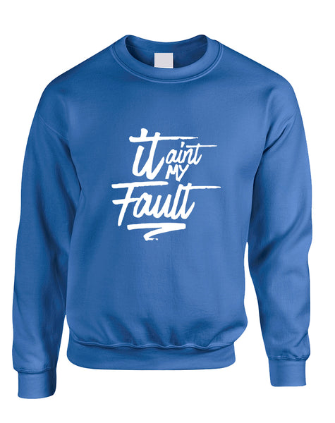 Adult Sweatshirt It Aint My Fault Trendy Cool Troublemaker Top