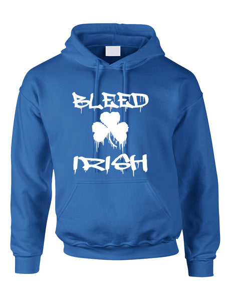 Adult Hoodie Bleed Irish St Patrick's Day Party Love Irish - ALLNTRENDSHOP - 3