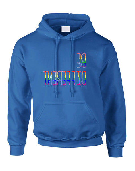 Adult Hoodie Be Different Gay Lesbian Rainbow Pride Sweatshirt