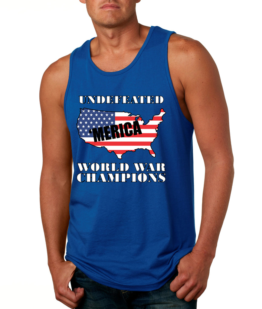 Men's Tank Top Undefeated World War Champions 4th Of July