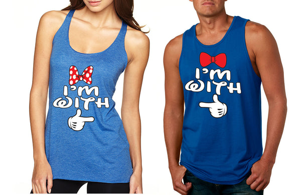 Im with him Im with her couples tanktops Valentines day - ALLNTRENDSHOP - 4