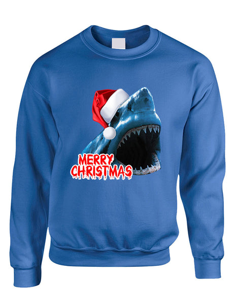 Adult Crewneck Santa Jaws Merry Christmas Ugly Xmas Funny Top - ALLNTRENDSHOP - 4
