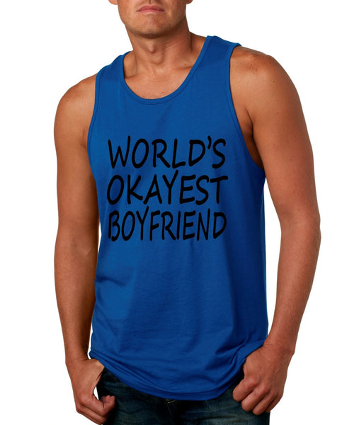 World's OKayest boyfriend men jersey tank top - ALLNTRENDSHOP - 4