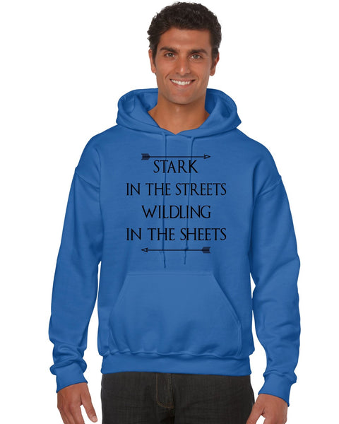 Stark in the streets wildling in the sheets men Hoodie - ALLNTRENDSHOP - 2