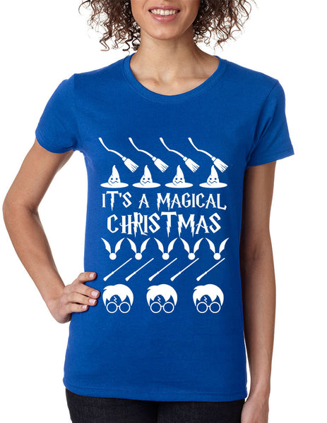 Women's T Shirt It's A Magical Christmas Ugly Christmas Sweater - ALLNTRENDSHOP - 3