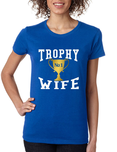 Women's T Shirt Trophy Wife Cool Xmas Love Family Holiday Gift - ALLNTRENDSHOP - 7