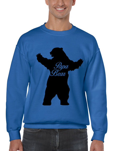Men's Crewneck Papa Bear Family Top For Dad Father's Day Gift - ALLNTRENDSHOP - 4