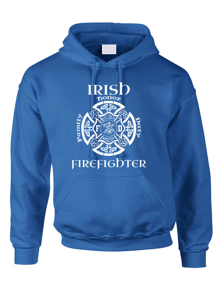Adult Hoodie Irish Firefighter St Patrick's Top Love Irish Party - ALLNTRENDSHOP - 4