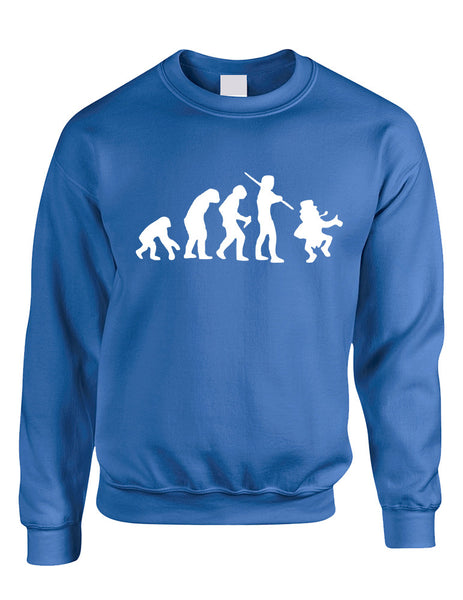 Adult Sweatshirt Irish Evolution Leprechaun St Patrick's Top - ALLNTRENDSHOP - 4