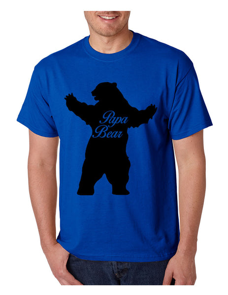 Men's T Shirt Papa Bear Family Shirt For Dad Xmas Cute Gift - ALLNTRENDSHOP - 7