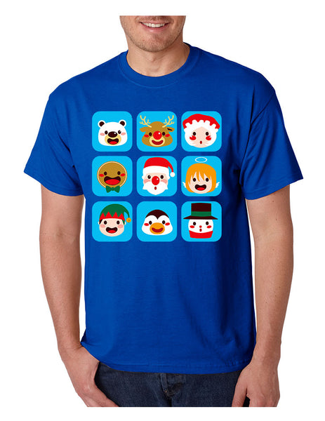 Men's T Shirt Christmas Icons Cool Ugly Xmas Symbols Shirt - ALLNTRENDSHOP - 4