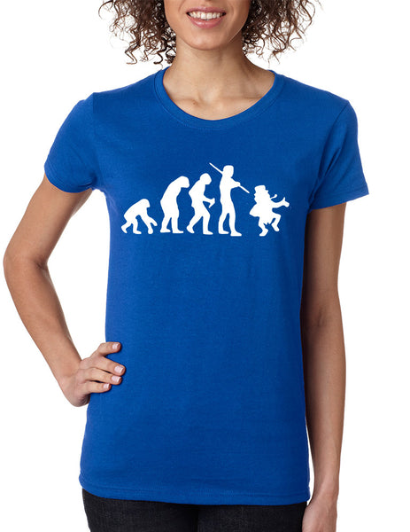 Women's T Shirt Irish Evolution Leprechaun St Patrick's Tee - ALLNTRENDSHOP - 3