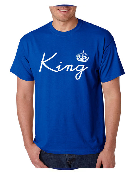 King with crown men t-shirt - ALLNTRENDSHOP - 1