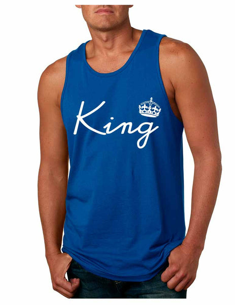 King with crown men jersey tank top - ALLNTRENDSHOP - 5