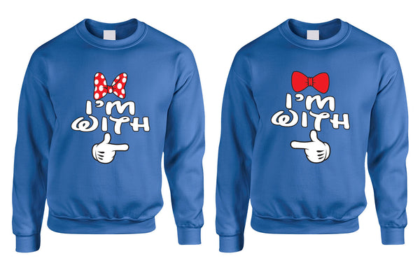 Im with him Im with her couples sweatshirts Vday - ALLNTRENDSHOP - 5