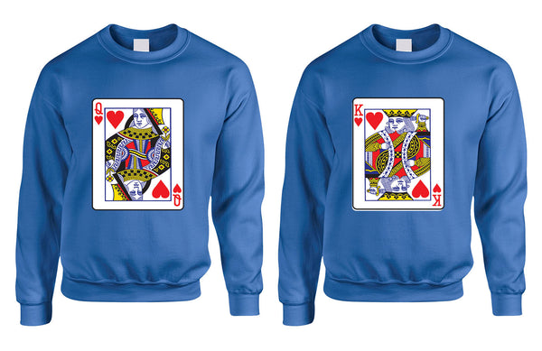 King and Queen matching couples sweatshirt Valentines day - ALLNTRENDSHOP - 2