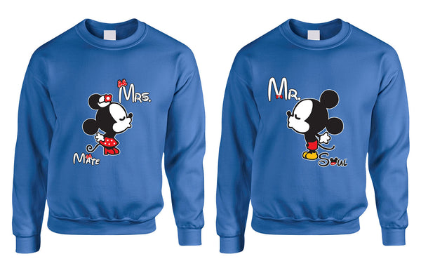 Mr soul Mrs mate kiss couples sweaters Valentines day - ALLNTRENDSHOP - 4
