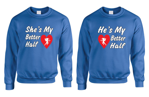 she and hes my better half Couple sweatshirt - ALLNTRENDSHOP - 1