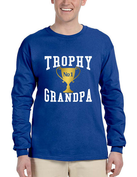 Men's Long Sleeve Trophy Grandpa Cool Xmas Love Family Gift Top - ALLNTRENDSHOP - 6