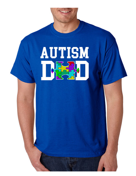 Men's T Shirt Autism Dad Autistic Awareness Shirt