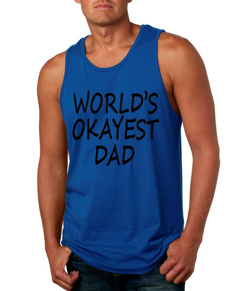 World's OKayest dad fathers day men jersey tank top - ALLNTRENDSHOP - 3