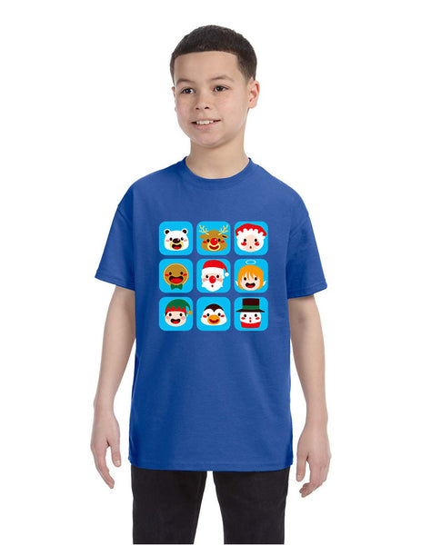 Kids T Shirt Christmas Icons Ugly Holiday Symbols T-Shirt - ALLNTRENDSHOP - 1