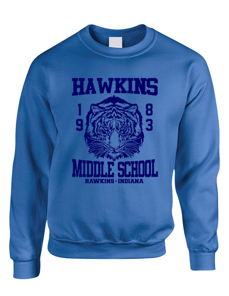 Adult Crewneck Sweatshirt Hawkins Middle School 1983 - ALLNTRENDSHOP - 3