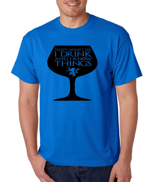 Men's T Shirt That's What I Do I Drink And Know Things Wing Glass Tyrion Lannister Top Game Of Thrones Inspired Tee - ALLNTRENDSHOP - 3