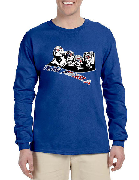 Men's Long Sleeve 4 Fathers American Team 4th Of July Shirt