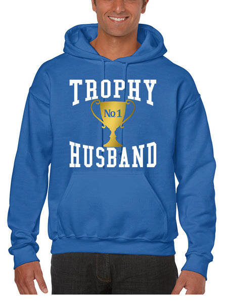 Men's Hoodie Trophy Husband Cool Xmas Gift Love Family Top - ALLNTRENDSHOP - 6