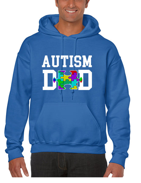 Men's Hoodie Autism Dad Proud Autistic Awareness Top