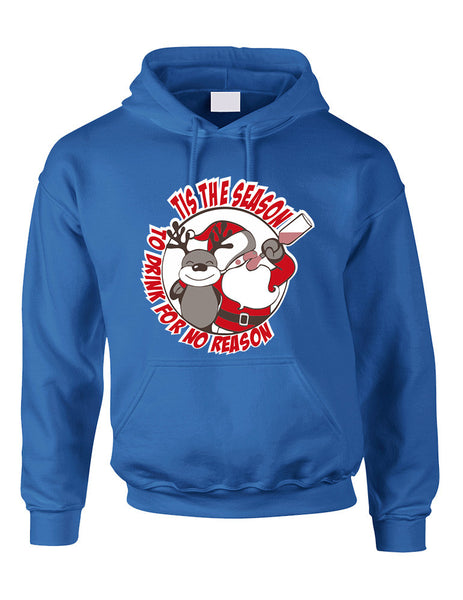 Adult Hoodie Tis The Season Drink No Reason Ugly Sweater - ALLNTRENDSHOP - 4