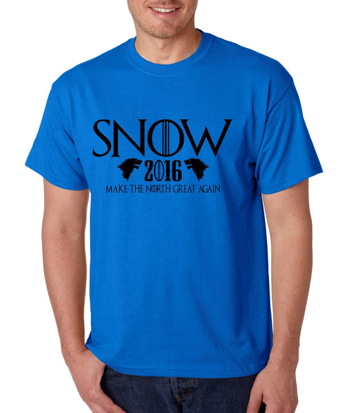 Snow 2016 Make The North Great Again men t shirt - ALLNTRENDSHOP - 3