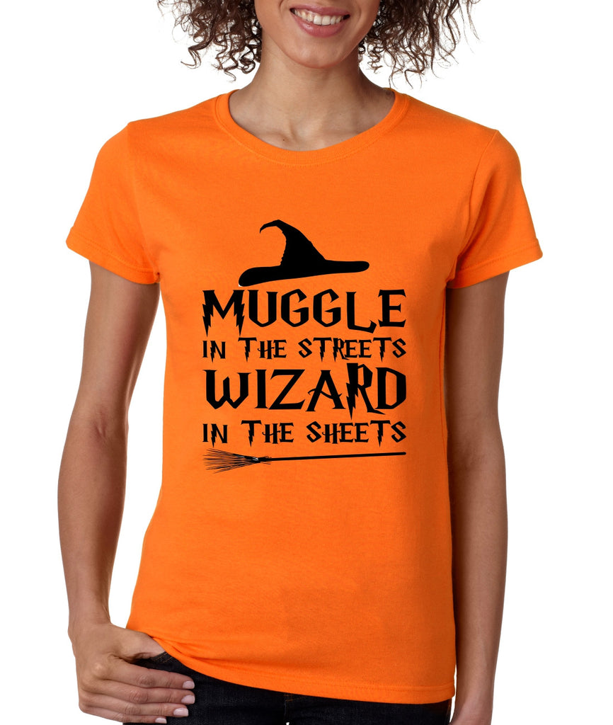 Women's T Shirt Muggle In The Streets Wizard In The Sheets - ALLNTRENDSHOP - 1