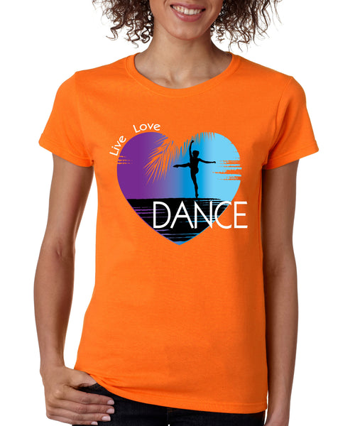 Women's T Shirt Dance Art Purple Print Love Cute Gift Nice Tee - ALLNTRENDSHOP - 5
