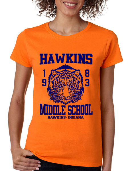 Women's T Shirt Hawkins Middle School 1983 - ALLNTRENDSHOP - 2