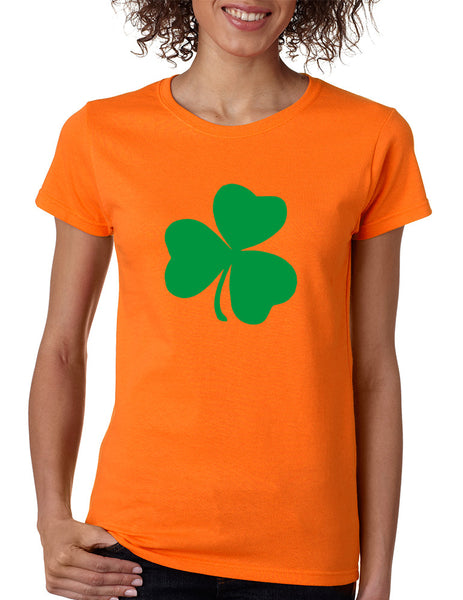 Women's T Shirt Green Shamrock Graphic St Patrick's Day Tee - ALLNTRENDSHOP - 2