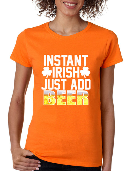 Women's T Shirt Instant Irish Add Beer St Patrick's T Shirt - ALLNTRENDSHOP - 3