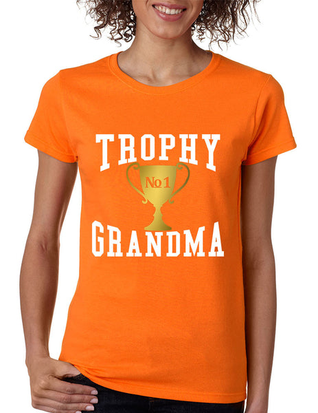 Women's T Shirt Trophy Grandma Cool Xmas Gift Family Love Tee - ALLNTRENDSHOP - 8