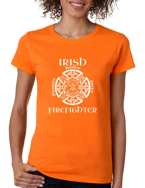 Women's T Shirt Irish Firefighter St Patrick's Shirt Irish Party - ALLNTRENDSHOP - 4