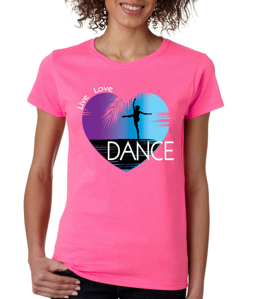 Women's T Shirt Dance Art Purple Print Love Cute Gift Nice Tee - ALLNTRENDSHOP - 6