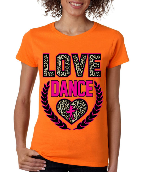 Love Dance Leopard womens T-Shirts - ALLNTRENDSHOP - 4