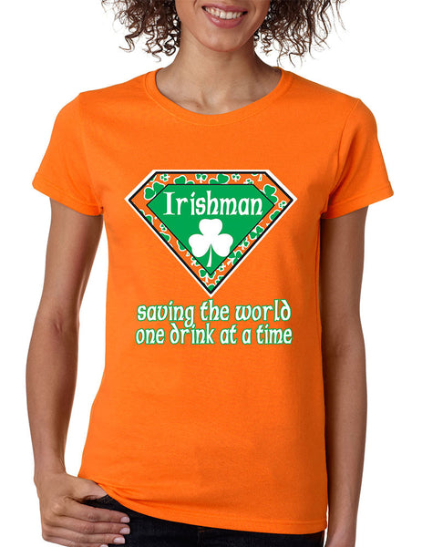 irishman saving the world st patricks women t-shirt - ALLNTRENDSHOP - 4