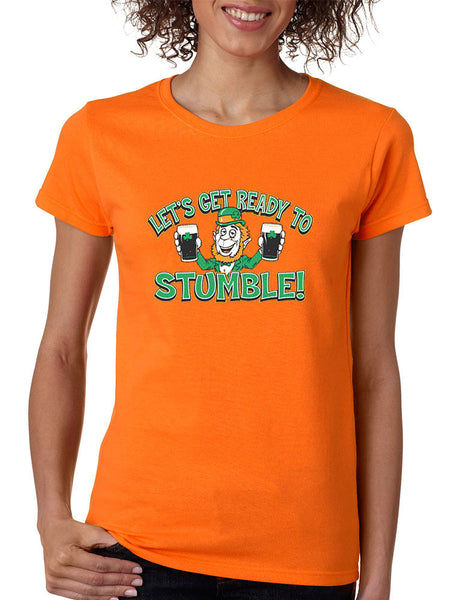 let`s get ready to stumble St patrick women t-shirt - ALLNTRENDSHOP - 2