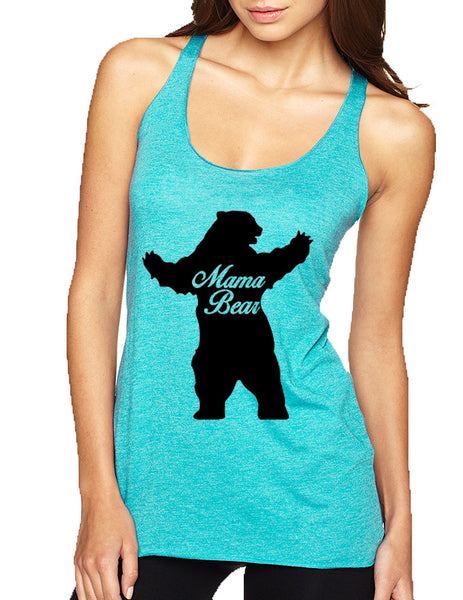 Women's Tank Top Mama Bear Family Top Mother Holiday Gift - ALLNTRENDSHOP - 4