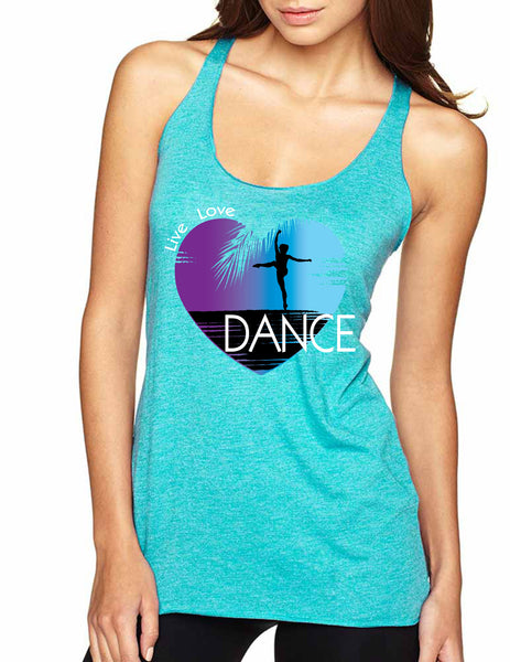 Women's Tank Top Dance Art Purple Print Love Cute Top Nice Gift - ALLNTRENDSHOP - 4