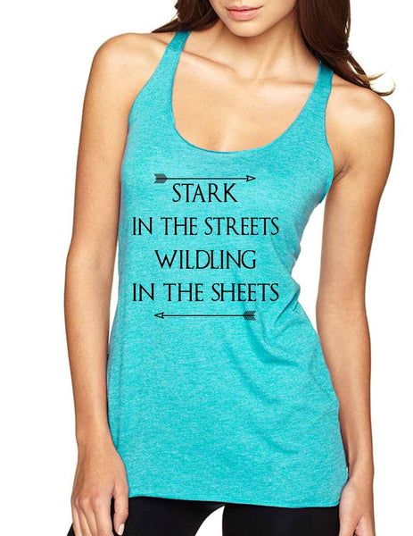 Stark in the streets wildling in the sheets Women Triblend Tanktop - ALLNTRENDSHOP - 2